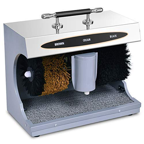 Shoe Shining Machine with Sole Cleaner (Stainless Steel Finish).