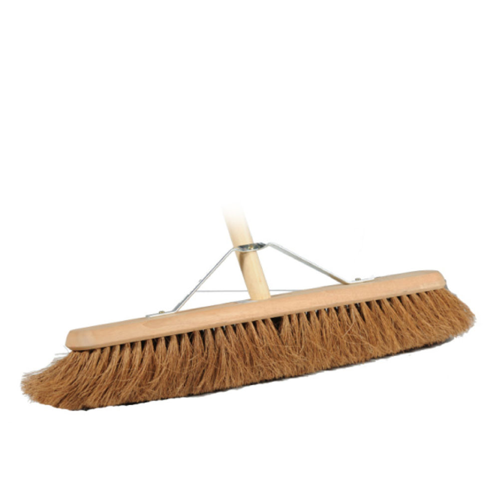 Floor Wooden Flat body  Coir Brush 24 Inch - Without Handle - Hospitality